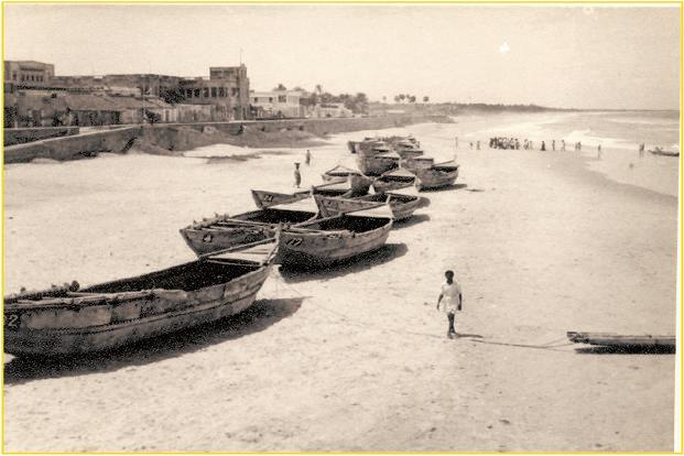 The Puducherry beach before the 1950s. Photo: Aurofilio Schiavina/Pondycan
