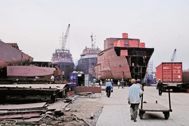 ABG Shipyard admitting in a BSE filing that it was in a deep financial crisis. Photo: Mint