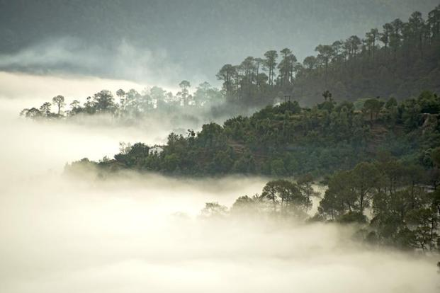 Misty mountains. Photographs by Gustasp and Jeroo Irani