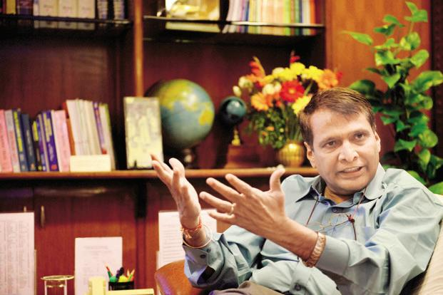 Suresh Prabhu says that as part of modernisation and maintenance of railways, his ministry has launched several initiatives over the past three years like RailCloud Server and Rail Saarthi App. Photo: Pradeep Gaur/Mint