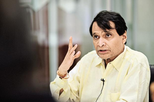 A file photo of railway minister  Suresh Prabhu. Photo: Priyanka Parashar/Mint