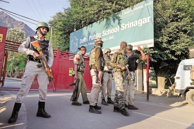 DPS Srinagar saw gunbattle between militants and security forces on 25 June in which two militants were killed. Photo: PTI