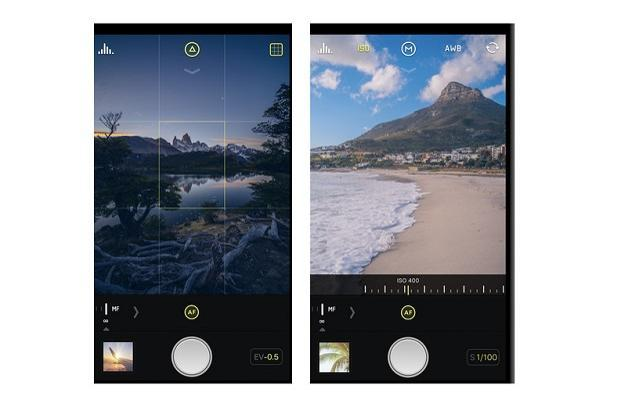 Halide allows users to control exposure and focus using simple gestures.
