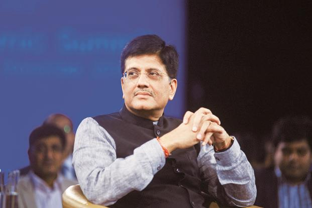 Power minister Piyush Goyal. The deadline for 100% electrification under Deendayal Upadhyaya Gram Jyoti Yojana has already been pushed back once from 2017 to 2018. Photo: Ramesh Pathania/Mint