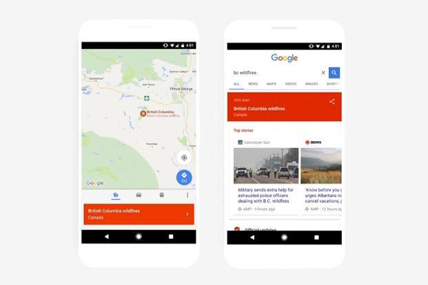 Google adds SOS alert capabilities to Search and Maps