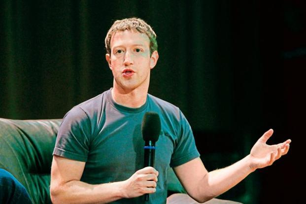 File photo of Facebook CEO Mark Zuckerberg. The company has recorded 45% revenue growth in the second quarter. Photo: Reuters