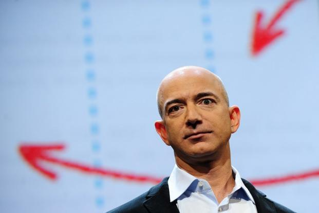 Jeff Bezos owns about 17% of Seattle-based Amazon. Photo: AFP