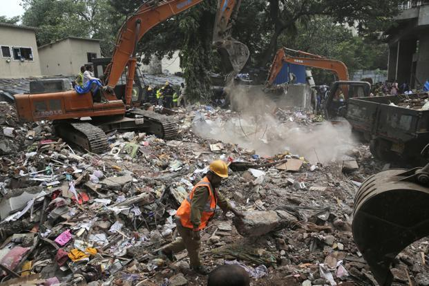 1st LD Writethru: 3 killed, 9 injured in building collapse in India
