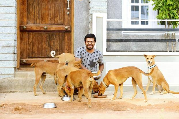 Ankur takes care of around 20 dogs. Photo: Hemant Mishra/Mint