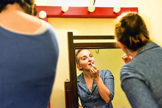 Mezzo soprano Anna Nair in the dressing room. Photographs by Aniruddha Chowdhury/Mint