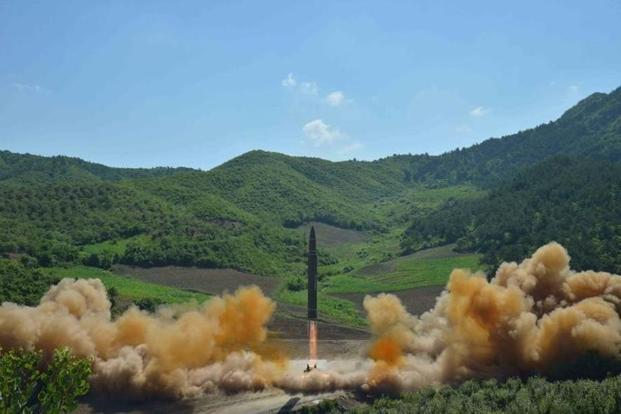 North Korea's launch of an ICBM on 4 July brought Kim Jong Un's isolated regime closer to its aim of building a device capable of hitting the continental US with a nuclear warhead. Photo: Reuters