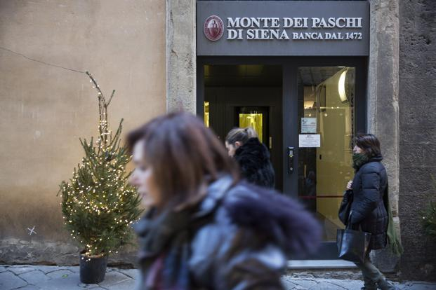 Monte Paschi turned to Italy for help after it failed to raise funding from investors in December. The package to recapitalize the bank is worth €8.3 billion ($9.8 billion). Photo: Bloomberg