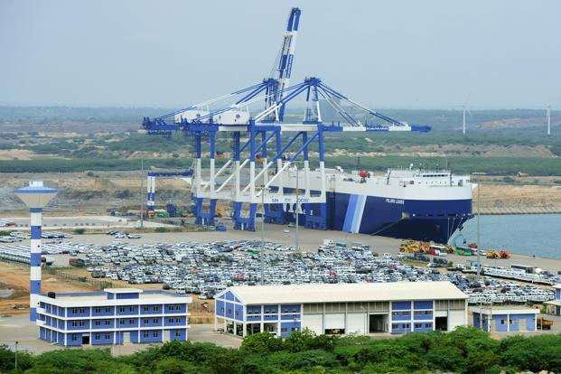 File photo. The Hambantota Port, overlooking the Indian Ocean, is expected to play a key role in China's Belt and Road initiative, which will link ports and roads between China and Europe.  Photo: AFP