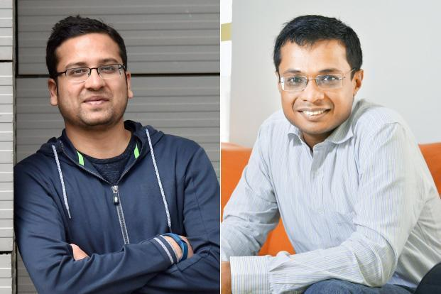 Flipkart founders Binny Bansal (left) and Sachin Bansal. Tiger Global Management is the biggest investor in India's largest e-commerce firm.