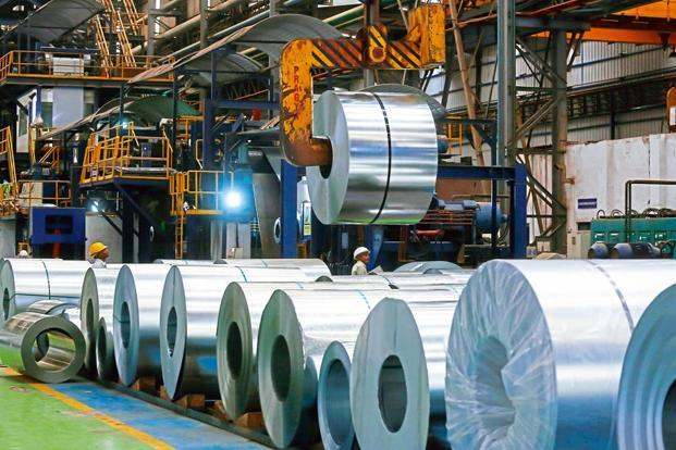 Steel production and power generation slowed to 5.8% and 0.7% in June this year from 8.8% and 9.8% in the same month last year respectively. Photo: Bloomberg