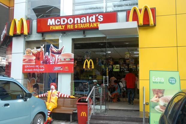 Shares of Westlife Development, which operates McDonald's outlets in south and west India, closed at Rs261.60, up 0.29% while the benchmark Sensex closed at 32,575.17, up 0.19%. Photo: Mint