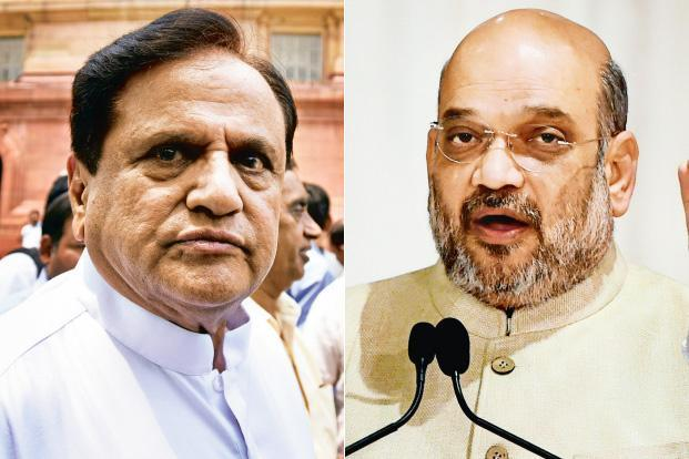 Congress leader Ahmed Patel (left) BJP chief Amit Shah. Both leaders are credited with having crafted several poll victories for their parties. Photo: HT & PTI