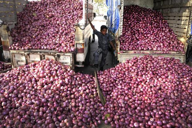 The existing onion demand is met through old rabi stocks, which has started depleting, owing to exports and limited supplies from Madhya Pradesh in view of state government buying, says government research body NHRDF. Photo: Abhijit Bhatlekar/Mint