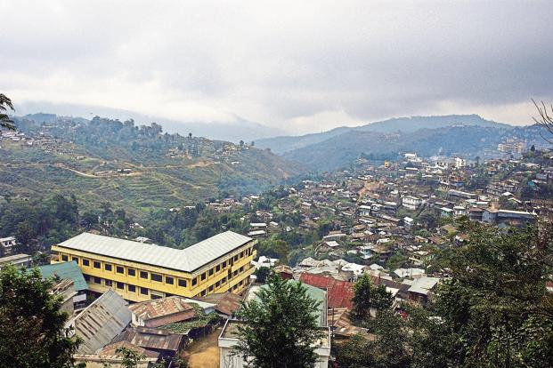 Kohima, Nagaland. North-east India has 3% of India's population and 8% of the land, hence the need and scope for infrastructure investments is immense. Photo: Prasanta Biswas/Majority World