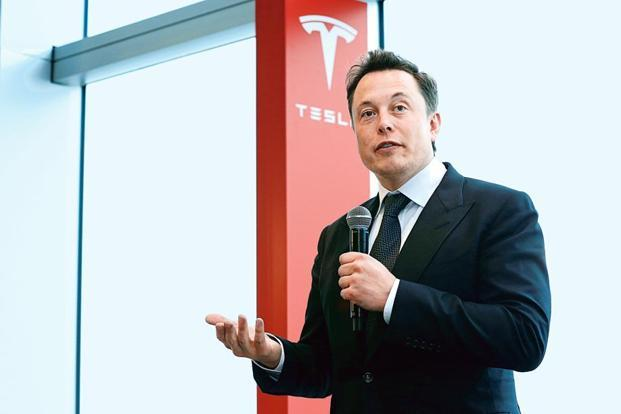 File photo of Tesla CEO Elon Musk. Tesla burned through $1.16 billion in cash during the June quarter by spending on capacity for its Model 3 electric car and boosting battery output. Photo: Bloomberg