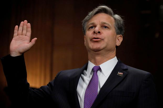 A file photo of Christopher Wray, new FBI director. Wray was sworn in as the eighth director of the FBI by attorney general Jeff Sessions who lauded his 'spirit' and 'strength of character'. Photo: Reuters