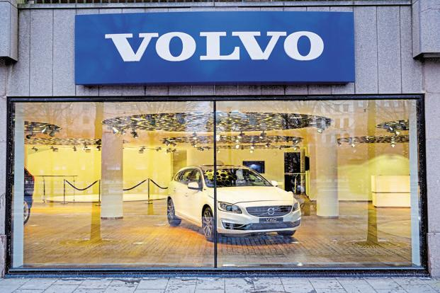 File photo. The car will be equipped with a new 1.5-liter turbo charged gasoline engine which Volvo has been developing for smaller cars. Photo: Bloomberg