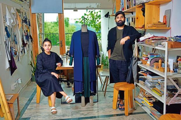 Ruchika Sachdeva and Ujjawal Dubey at the Bodice studio in Hauz Khaz, New Delhi. Photo: Pradeep Gaur/Mint