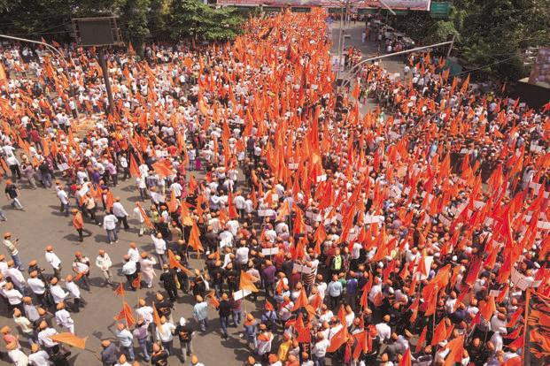 The Maratha Kranti Morcha in Thane last year. So far, 57 silent marches have been organized, mainly in Maharashtra. Photo: Abhijit Bhatlekar/Mint