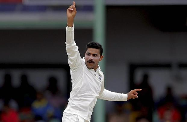 Ravindra Jadeja has also been slapped with a 50% match fee fine. Photo: AP