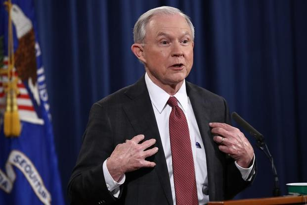 Jeff Sessions had been the public target of Donald Trump's anger recently as he had recused himself from a probe into the allegations of collusion between Trump's aides and Russia to rig the 2016 presidential elections. Photo: AFP