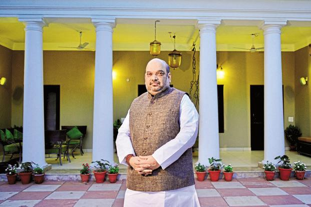 BJP president Amit Shah has become a Member of Parliament in Rajya Sabha on the very day he took charge of the Bharatiya Janata Party three years ago. Photo: Pradeep Gaur/Mint