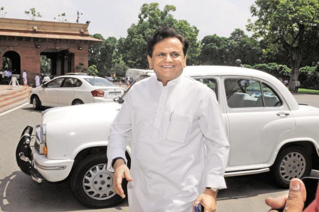 Ahmed Patel, political secretary of Congress chief Sonia Gandhi, accused the ruling BJP of 'intimidating and torturing' Congress MLAs and their families to 'trigger more defections'. File photo: Hindustan Times