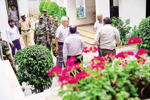 The Income Tax department conducted raids at various properties linked to Karnataka power minister D.K. Shivakumar last week. Photo: PTI