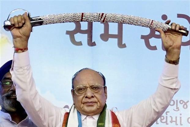 Shankersinh Vaghela said he was no longer in touch with the Congress leadership and dismissed talks that he was in contact with BJP members. Photo: PTI