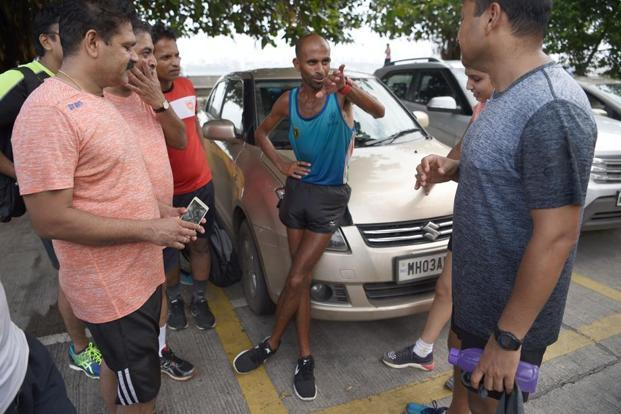Singh, who is seen chatting with other runners, was christened as 'The Faith Runner' by Mumbai documentary-makers Vandana and Vikram Bhatti.