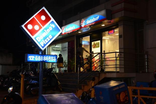 Following the announcement, Jubilant FoodWorks' shares jumped 5.4% to close at Rs1,333.25 apiece on BSE on Tuesday. Photo: Hemant Mishra/Mint