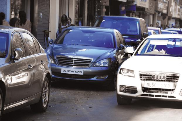 The GST Council on Monday recommended an additional levy of 10 percentage points on luxury cars and sports utility vehicles, taking the total to 53%. Photo: Ramesh Pathania/Mint
