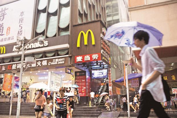 McDonald's aims to achieve double-digit sales growth in mainland China every year for the next five years. Photo: Bloomberg