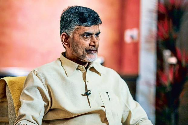 The ruling Telugu Desam Party (TDP), led by chief minister Chandrababu Naidu (in pic), and YSR Congress Party have another opponent to tackle in the form of the Rayalaseema Parirakshana Samithi, or RPS,  in the 23 August Nandyal bypoll. Photo: Bloomberg
