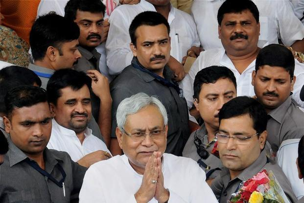 Nitish Kumar's new cabinet, in which 22 of 29 ministers have criminal charges, raises a question mark on his motives. Photo: PTI