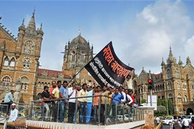 It was the concluding protest of a series of 57 marches last year across Maharashtra, organised by the state's Maratha community to press its demands. Photo: PTI
