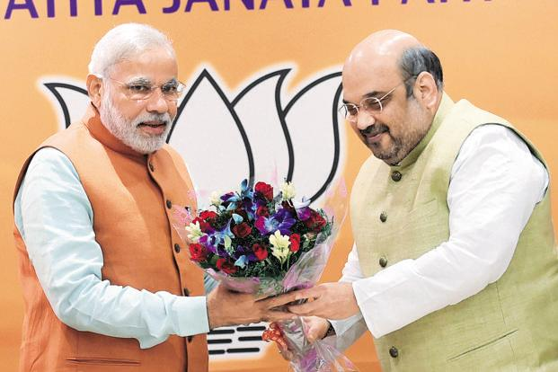 A file photo of Prime Minister Narendra Modi and BJP president Amit Shah. Photo: PTI