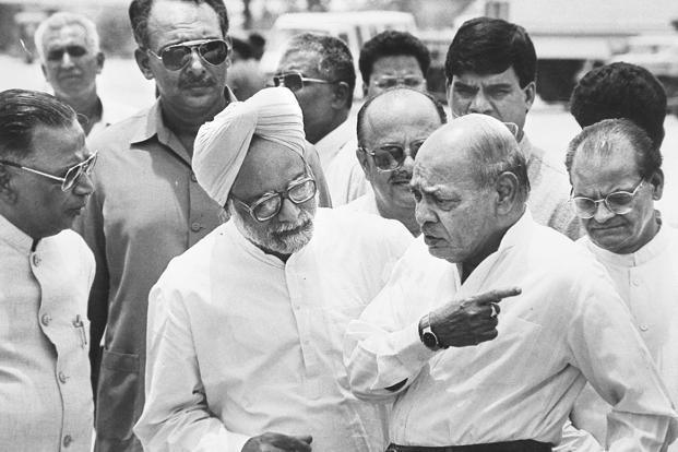 A file photo of then prime minister P.V. Narasimha Rao. It was only under Rao that the full package of stabilization plus structural reforms was put back on the rails in 1991. Photo: HT