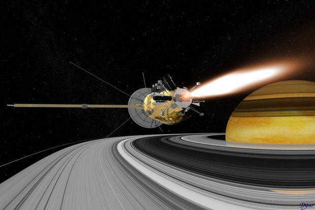 Nasa Cassini will enter new territory in its final mission phase, the Grand Finale, making the first of the five passes over Saturn on 13 August. Photo: Reuters