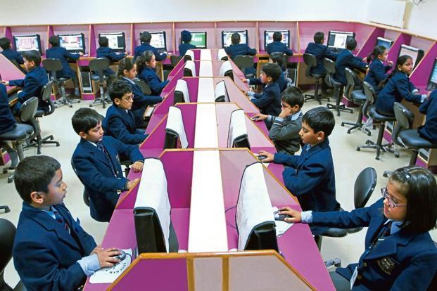 The govt's plan is to allow over six million teachers in over 1.5 million schools across India to create innovative content which will be screened and rated by an official panel. Photo: HT