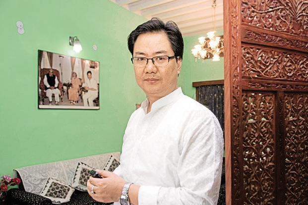MoS (home ministry) Kiren Rijiju has rejected claims of the opposition that the government has failed to respond in time to the 'annual feature' of floods in northeastern states. Photo: Mint