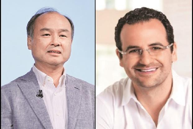 SoftBank boss Masayoshi Son and Tiger Global Management's Lee Fixel