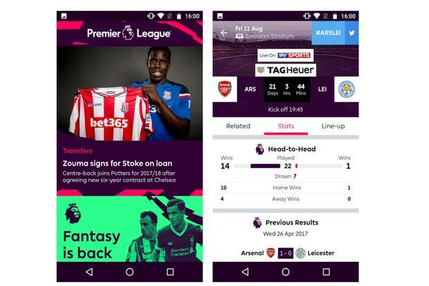 The official app of the English Premier League is a treasure trove of information on your favourite teams and players