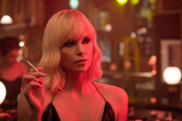 Charlize Theron in a still from Atomic Blonde.