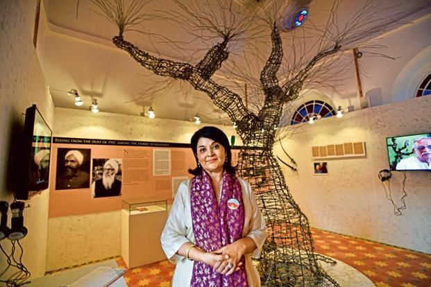 Kishwar Desai, chair of the Partition Museum, Amritsar. Photo: Hindustan Times